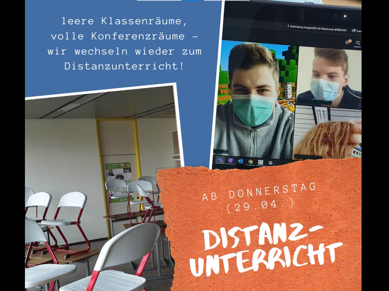 You are currently viewing Distanzunterricht ab dem 29.04.2021