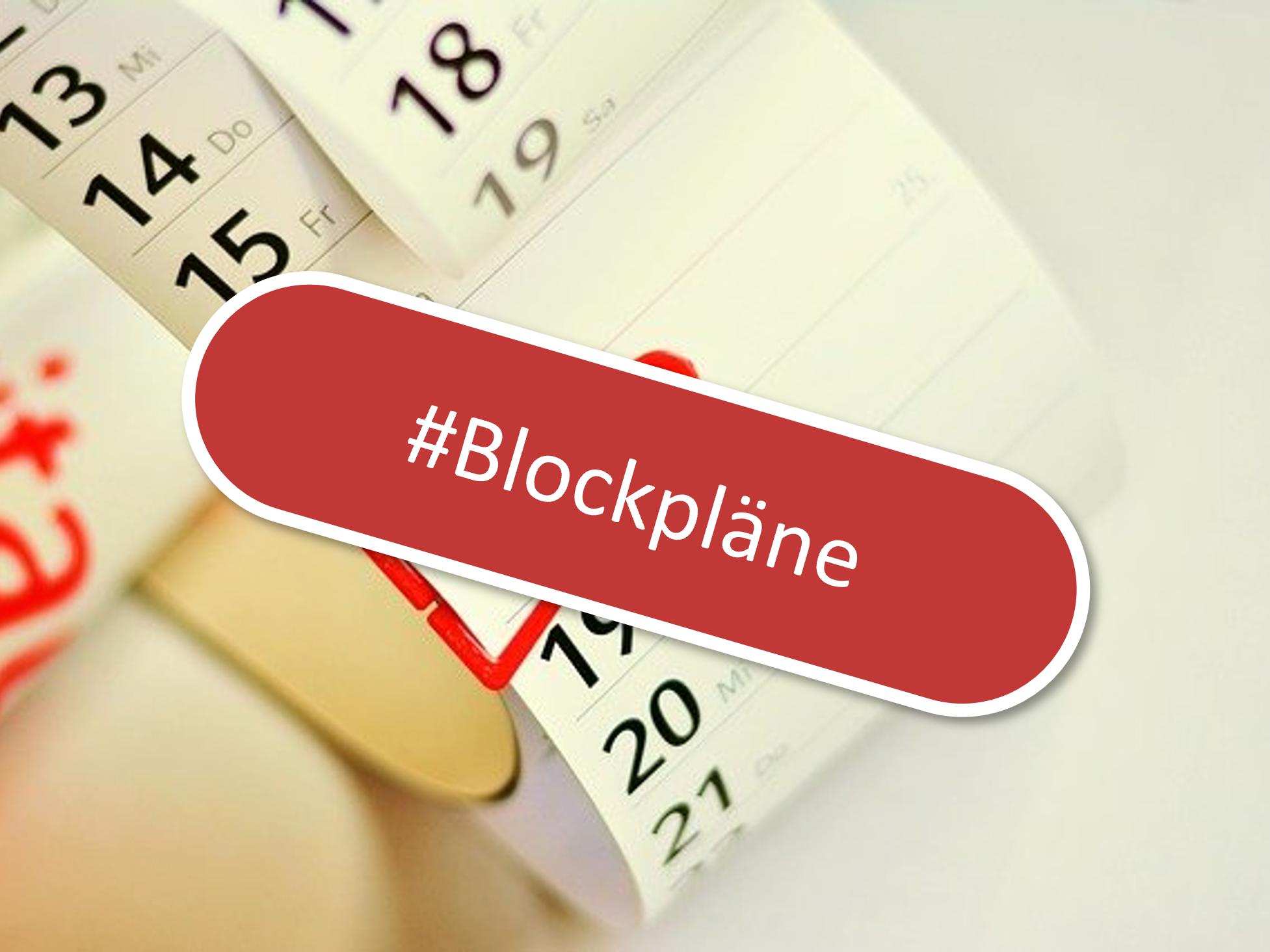 You are currently viewing Blockpläne für das Schuljahr 2021/2022